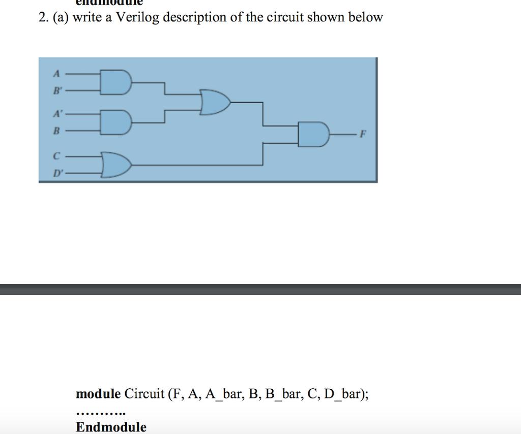 hight resolution of  a write a verilog description of the circuit shown below d