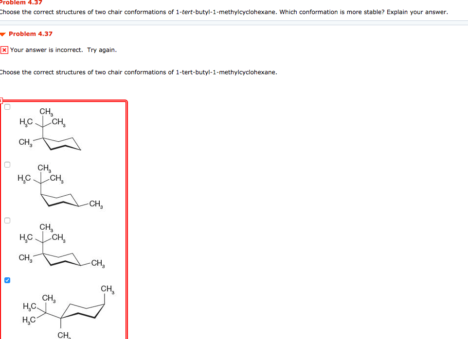 Solved: Problem 4.37 Choose The Correct Structures Of Two