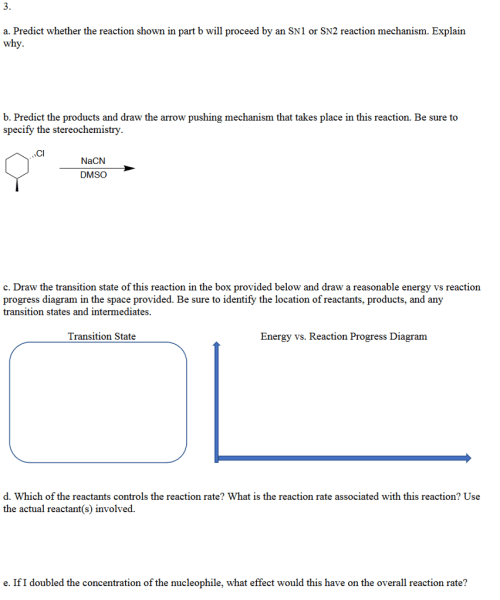 small resolution of 3 a predict whether the reaction shown in part b will proceed by an