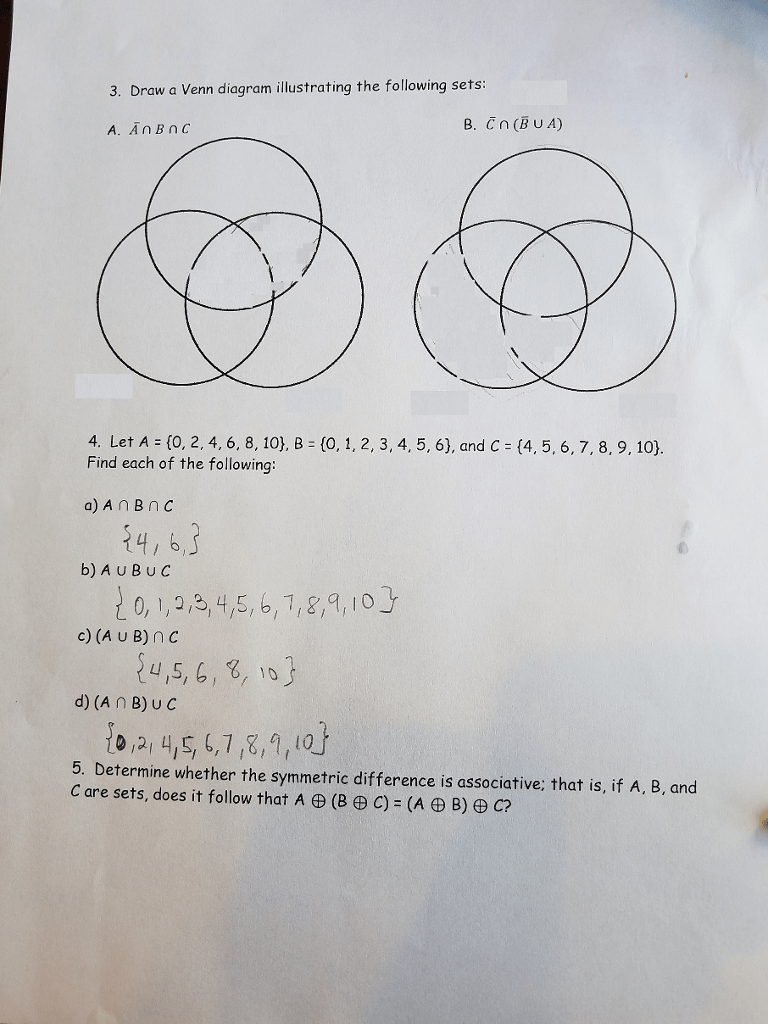hight resolution of draw a venn diagram illustrating the following sets a an bn c