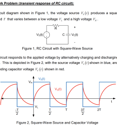 homework problem transient response of rc circuit in the circuit diagram shown in [ 1024 x 846 Pixel ]