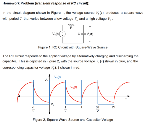 small resolution of homework problem transient response of rc circuit in the circuit diagram shown in