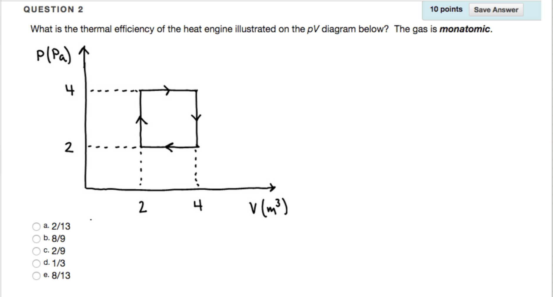 hight resolution of question what is the thermal efficiency of the heat engine illustrated on the pv diagram