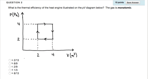 small resolution of question what is the thermal efficiency of the heat engine illustrated on the pv diagram