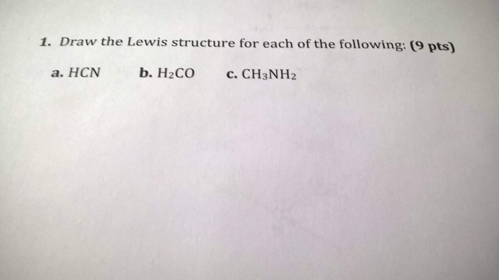 medium resolution of draw the lewis structure for each of the following