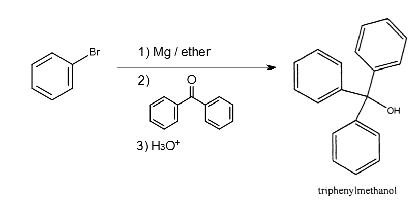 Solved: Grignard Reaction For Synthesis Of Triphenyl Metha