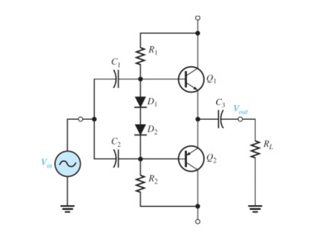 Solved: Consider The Following Class AB Power Amplifier (c