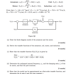 the block diagram in figure q2 shows a dc motor model the differential [ 801 x 1024 Pixel ]
