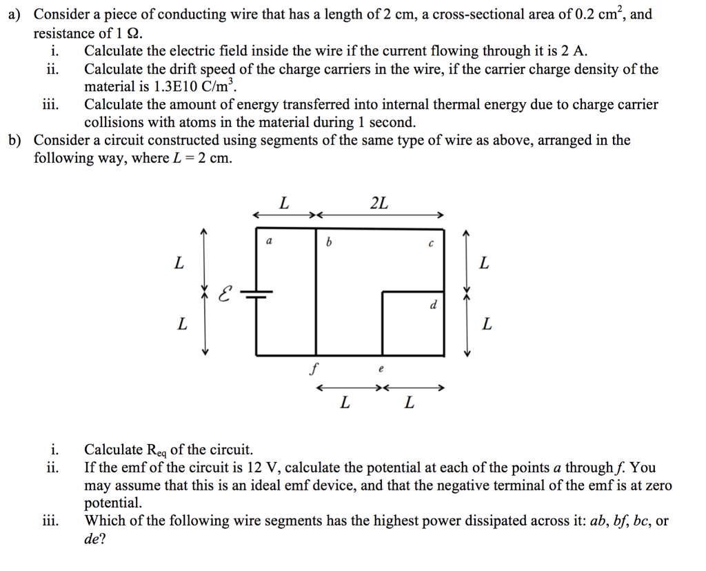 hight resolution of a consider a piece of conducting wire that has a length of 2 cm