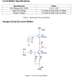 question level shifter split the circuit in two portions were the top half is from the output up and the bottom part is a loop of q2  [ 936 x 1009 Pixel ]