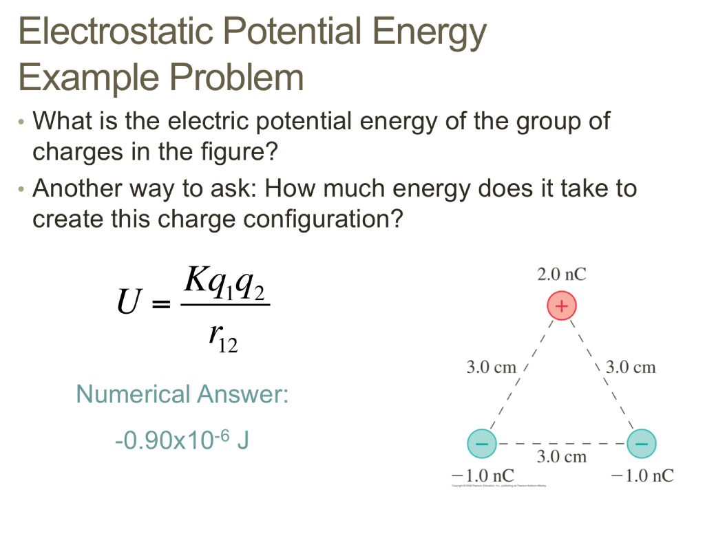 Solved What Is The Electric Potential Energy Of The Group