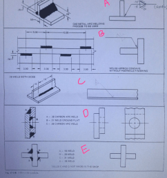 desired weld drawing callout weld a to 8e ground flat 25 50 gas metal arc welding [ 786 x 1024 Pixel ]