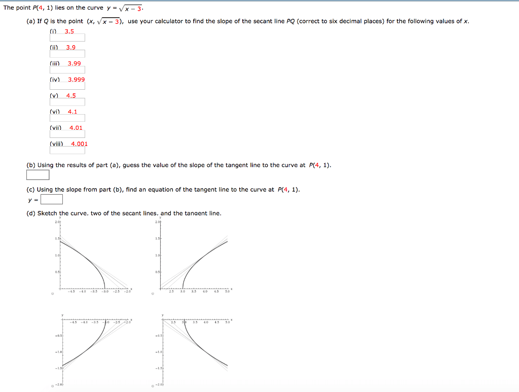Solved: The Point P(4, 1) Lies On The Curve Y = Squareroot
