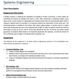 question systems engineering case description background information a design company is exploring the possibility of bringing to market smartblinds  [ 880 x 1024 Pixel ]
