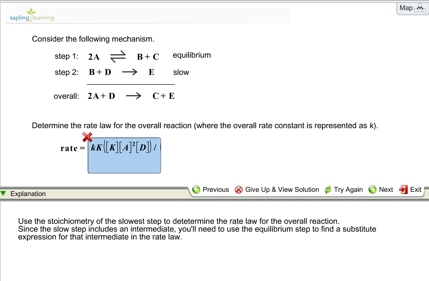 Solved Determine The Rate Law For The Overall Reaction W