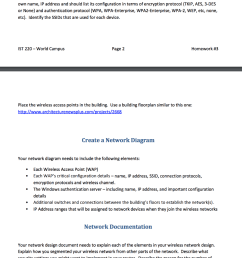 wireless network design for a small company show transcribed image text [ 896 x 1024 Pixel ]