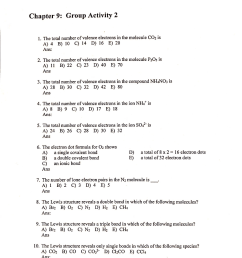 chapter 9 group activity 2 the total number of valence electrons in the molecule co2 [ 845 x 1024 Pixel ]