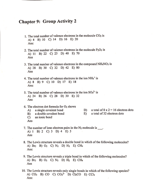 small resolution of chapter 9 group activity 2 the total number of valence electrons in the molecule co2