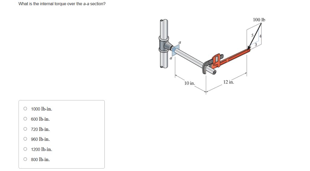 Solved: Reading Question 8.03 What Is The Internal Torque