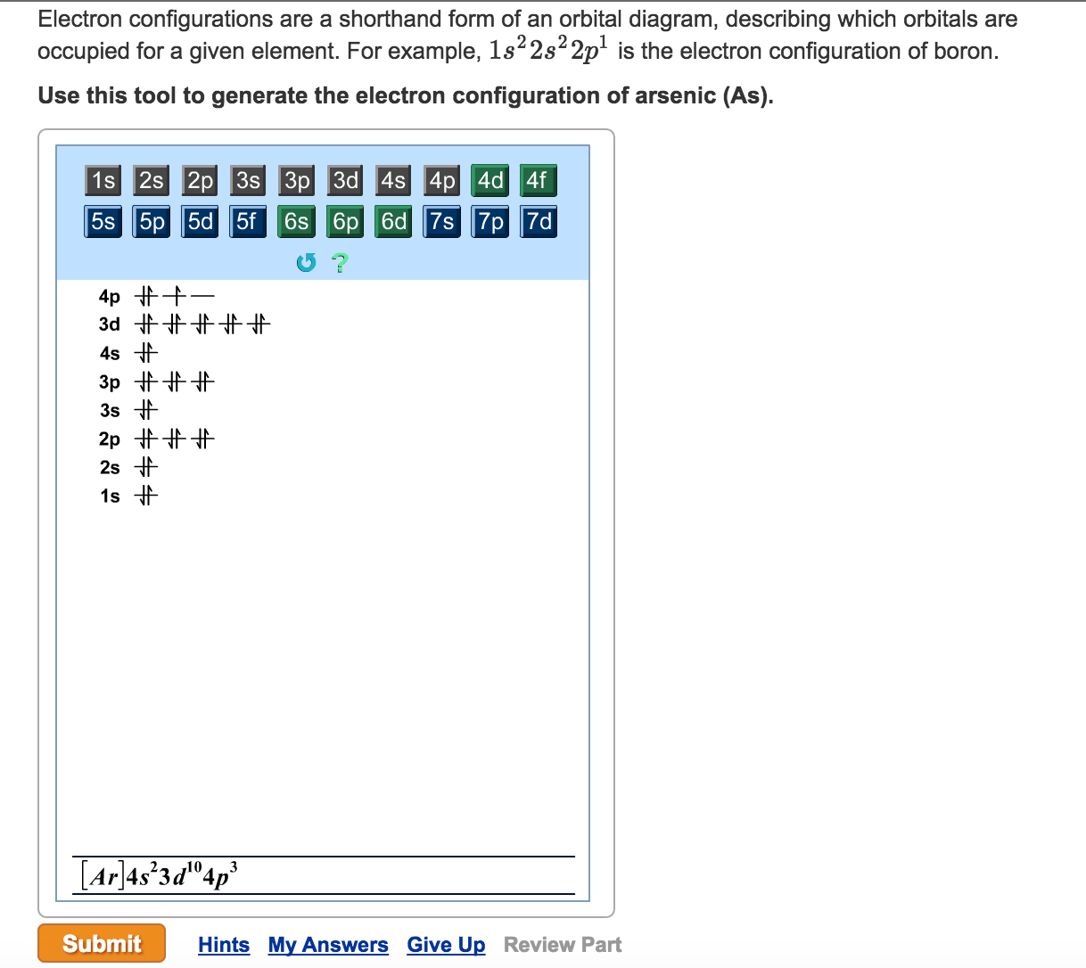 hight resolution of electron configurations are a shorthand form of an