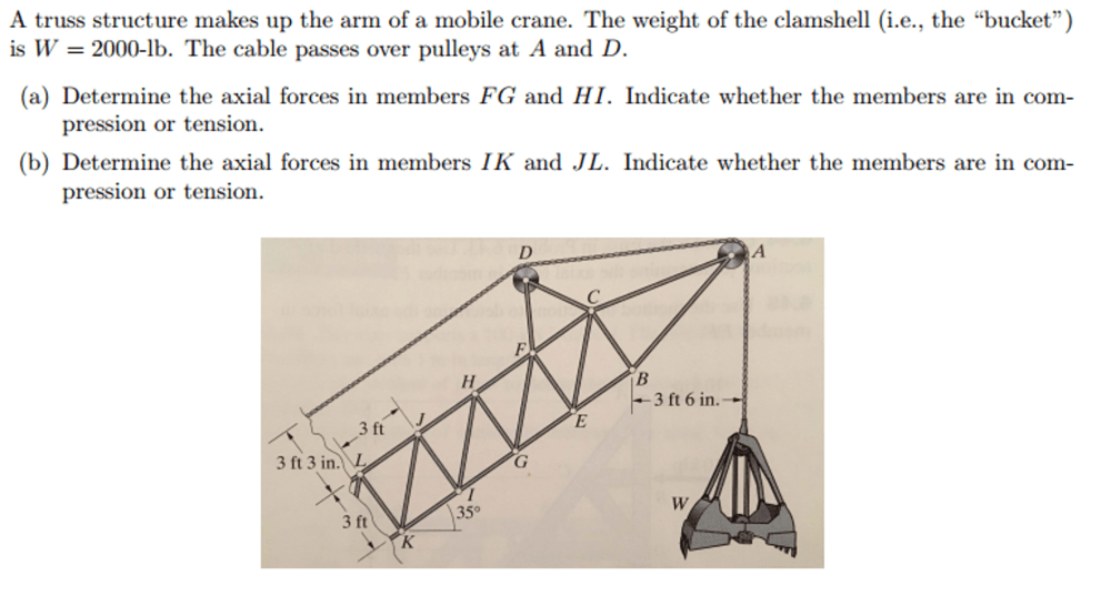 medium resolution of a truss structure makes up the arm of a mobile cra