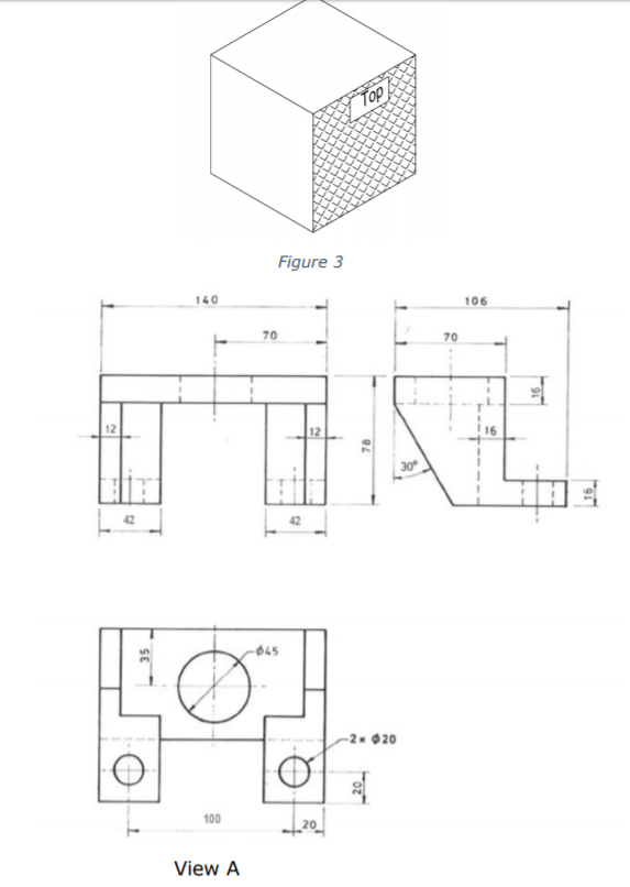 Solved: Make An Isometric Drawing Of The Support Bracket S