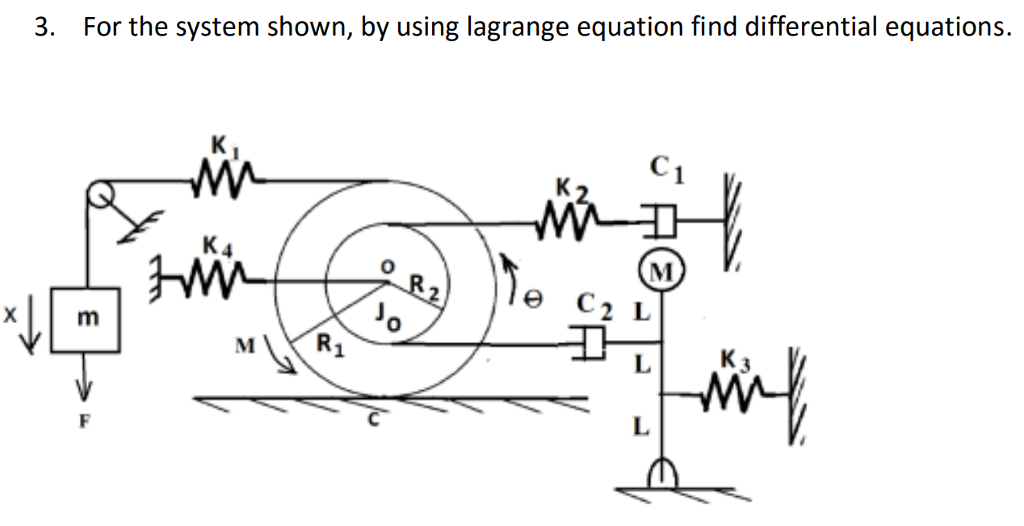 Solved: For The System Shown, By Using Lagrange Equation F