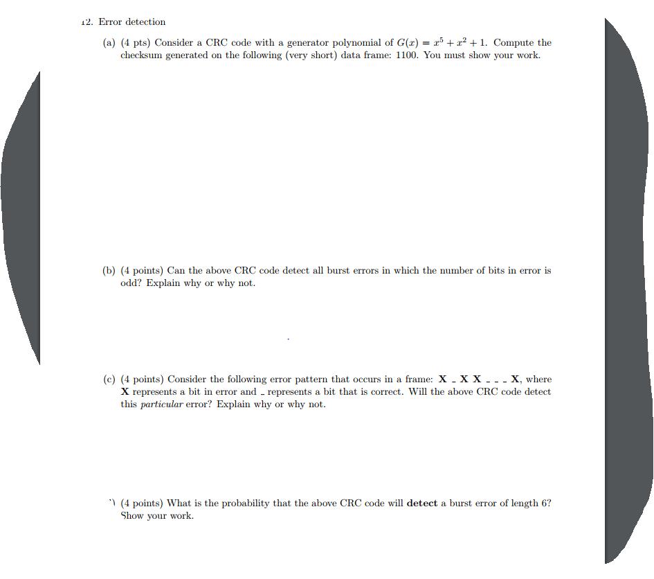 solved 12 error detection