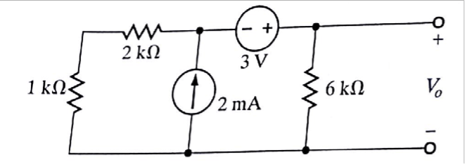Solved: Using Thevenin's Theorem, Find V0 In The Circuit S