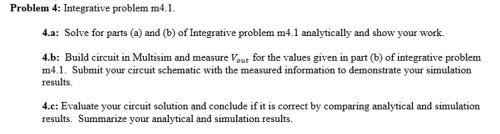 small resolution of problem 4 integrative problem m4 1 for parts a and b