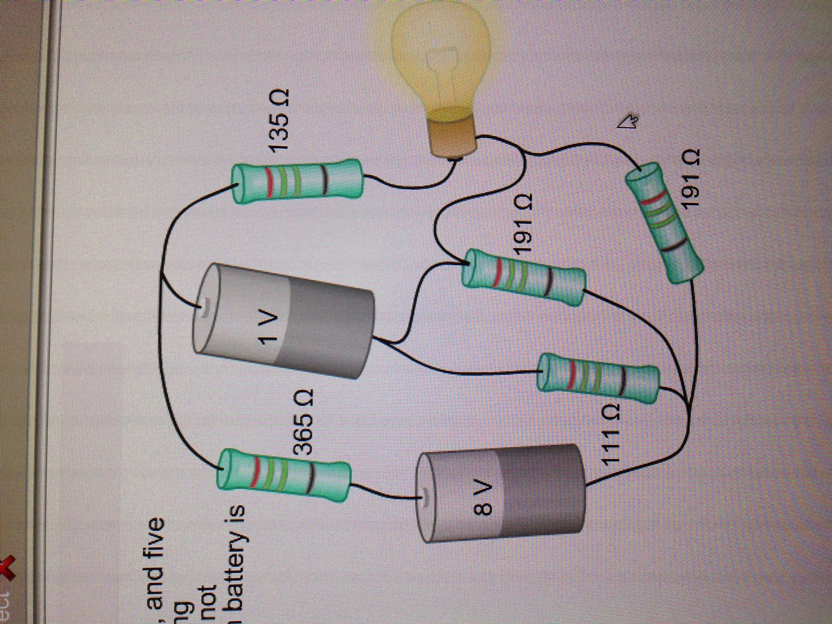 Solved In The Circuit On The Right A Light Bulb Two Bat