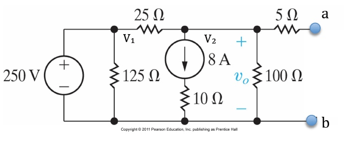 Solved: Find The Open Circuit Voltage And The Short Circui
