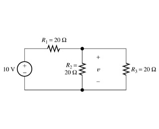 Solved: Use The Voltage-division Principle To Calculate V