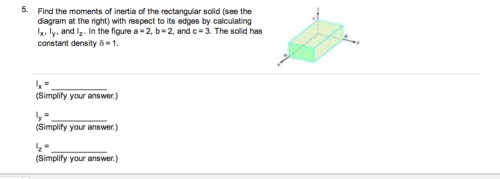 small resolution of find the moments of inertia of the rectangular sol