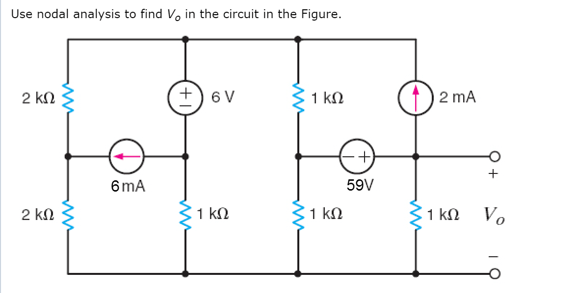 Solved: Use Nodal Analysis To Find V0 In The Circuit In Th