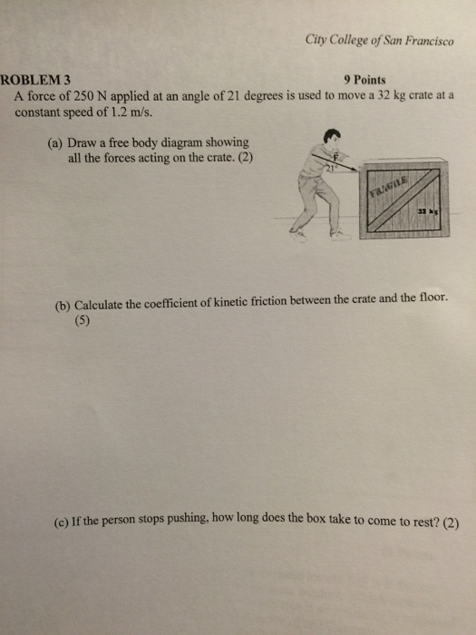 If The Box Is At Rest The Net Force Acting On It Is Equal To