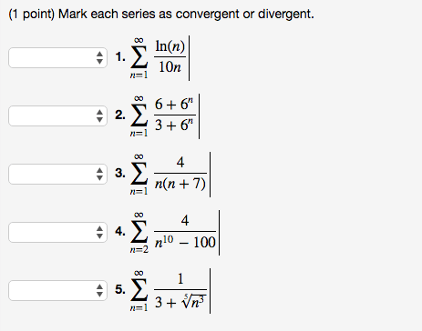 Solved: Mark Each Series As Convergent Or Divergent. Sigma