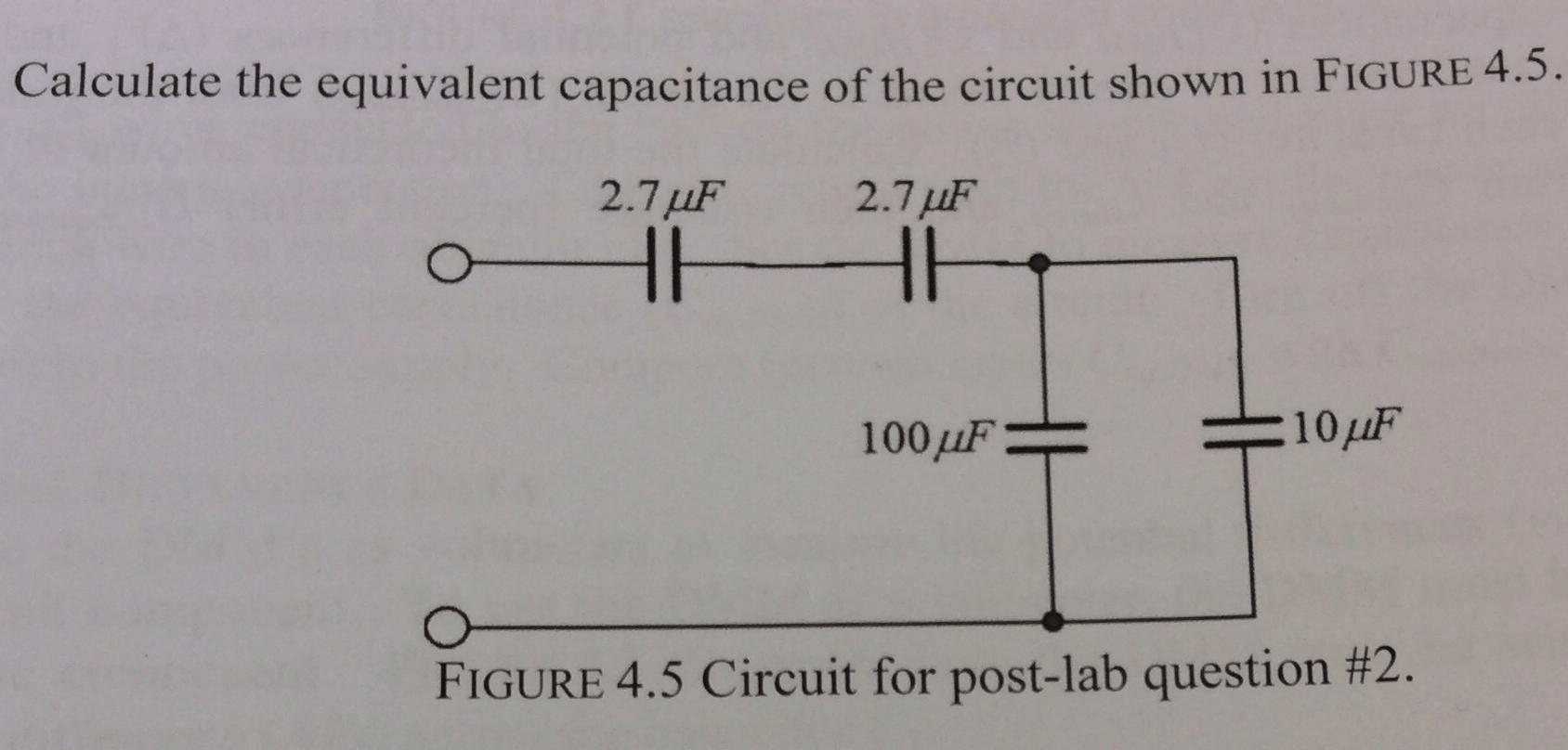 Solved Calculate The Equivalent Capacitance Of The Circui