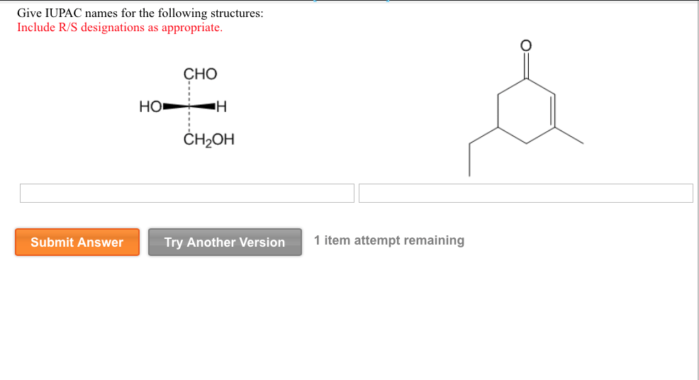 Solved: Give IUPAC Names For The Following Structures: Inc