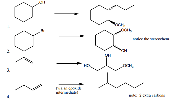 Solved: How Do You Do These Organic Chem Synthesis With Ep