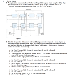 question shift registers timing diagrams pre lab report 1 using logisim implement a serial parallel in left right shift register circuit using four d  [ 871 x 1024 Pixel ]