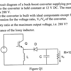Circuit Diagram Of Buck Boost Converter Coleman Evcon Wiring Solved Shows A