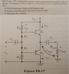 design a 5w complementary symmetry diode compensat [ 922 x 1024 Pixel ]