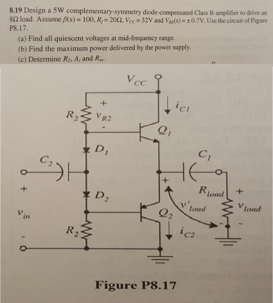 hight resolution of design a 5w complementary symmetry diode compensat