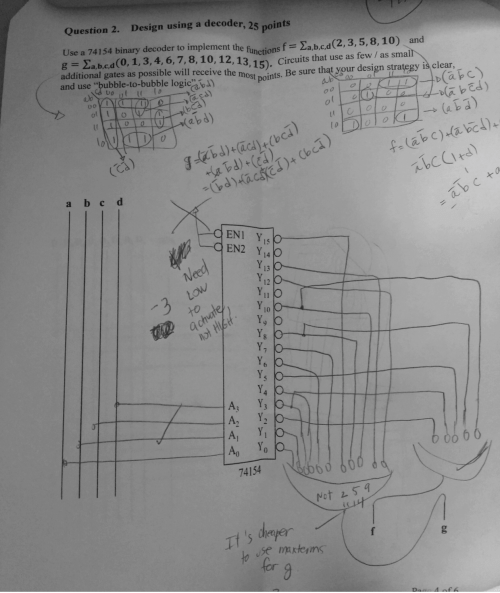 small resolution of solved use a 74154 binary decoder to implement the functiuse a 74154 binary decoder to implement