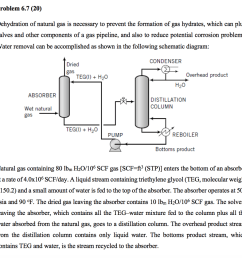 problem 6 7 20 dehydration of natural gas is necessary to prevent the formation of [ 1024 x 966 Pixel ]