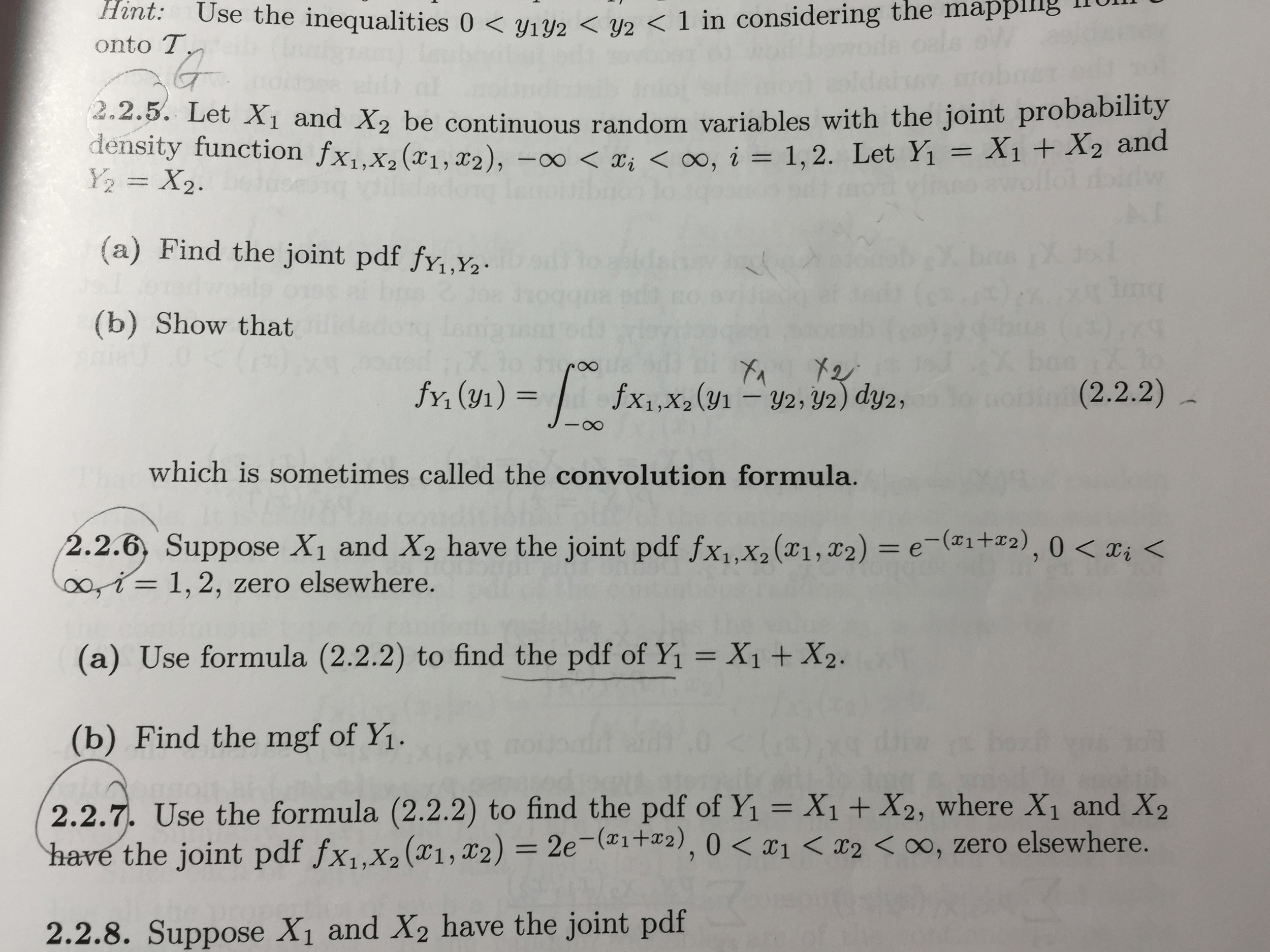 Let X1 And X2 Be Continuous Random Variables With