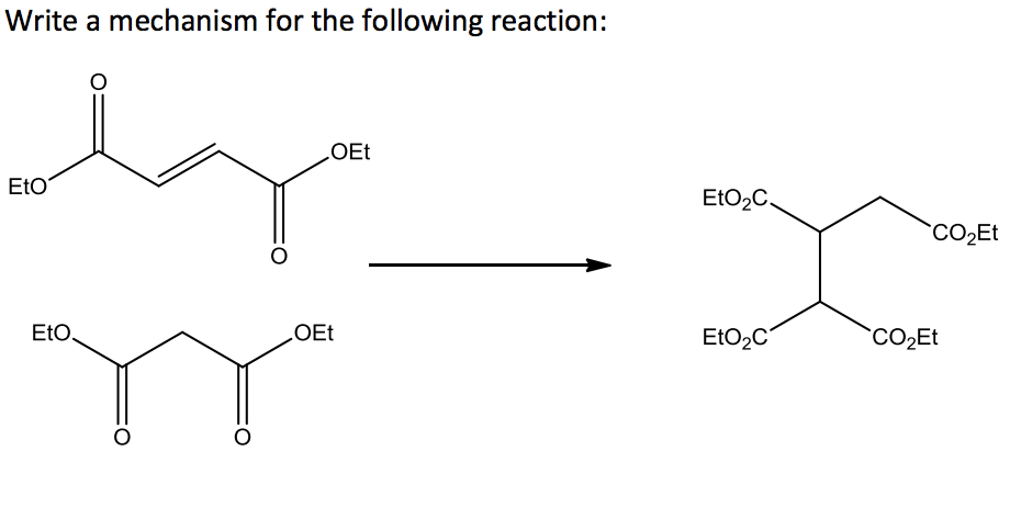 Solved: Write A Mechanism For The Following Reaction: OEt