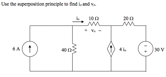 Solved: Solve The Circuit Using Superposition. Show Steps