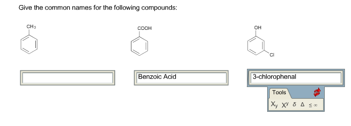 Solved: Give The Common Names For The Following Compounds